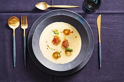 Schaumsüppchen von der gelben Tomate mit gebratenen Jakobsmuscheln 3