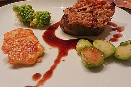 Steaks mit Maronenkruste