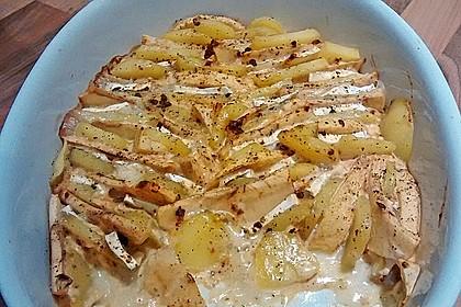 Kartoffel-Apfel-Auflauf mit Camembert 7