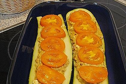 Zucchini mit einer Füllung aus Bratlingmasse 1