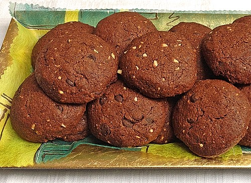 vegane schoko cookies rezept mit bild von enehi. Black Bedroom Furniture Sets. Home Design Ideas