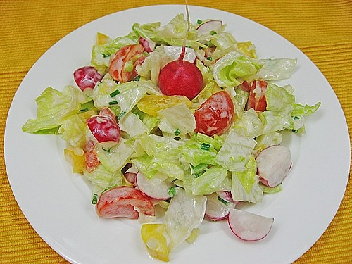 Bunter Salat mit Joghurtdressing 0