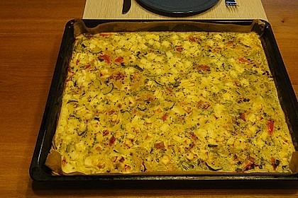 Gemüse - Feta - Kuchen 2