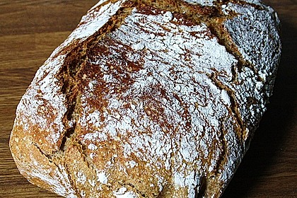 Rustikales Brot im Bräter 2