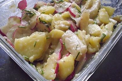 Leichter Kartoffel-Spargelsalat mit Radieschen 5
