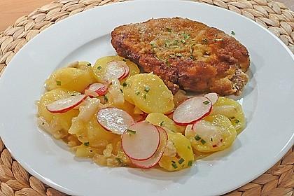 Leichter Kartoffel-Spargelsalat mit Radieschen 3