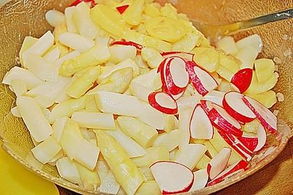 Leichter Kartoffel-Spargelsalat mit Radieschen 8