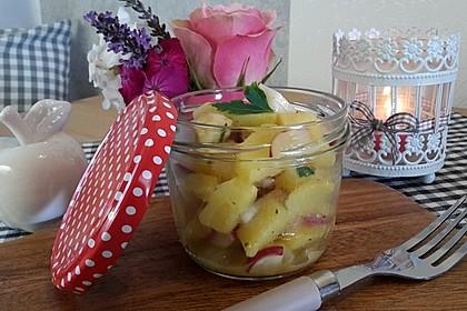 Leichter Kartoffel-Spargelsalat mit Radieschen 1