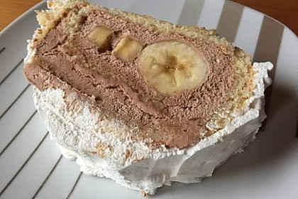 Bananensplit - Biskuitrolle 3
