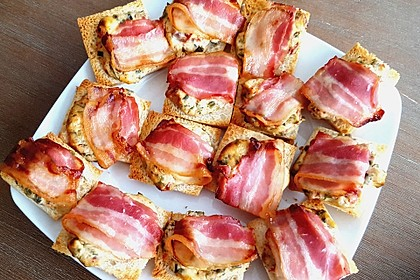 Bacon - Tomaten - Frischkäse Häppchen 11