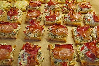 Bacon - Tomaten - Frischkäse Häppchen 9