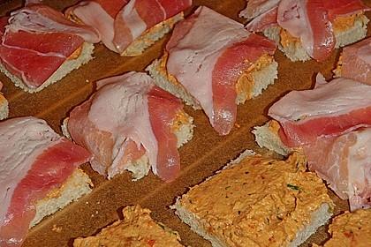 Bacon - Tomaten - Frischkäse Häppchen 36