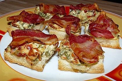 Bacon - Tomaten - Frischkäse Häppchen 4