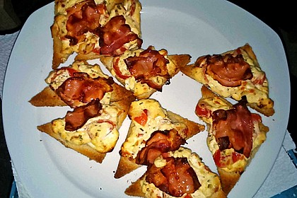 Bacon - Tomaten - Frischkäse Häppchen 40