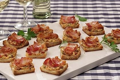 Bacon-Tomaten-Frischkäsehäppchen