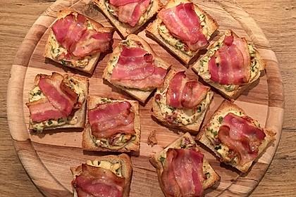 Bacon - Tomaten - Frischkäse Häppchen 10