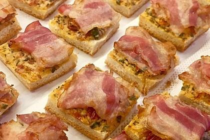 Bacon - Tomaten - Frischkäse Häppchen 18