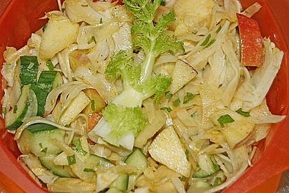 Fenchelsalat mit Apfel und Gurke 9