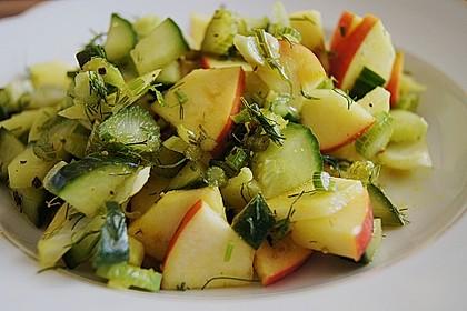 Fenchelsalat mit Apfel und Gurke 1