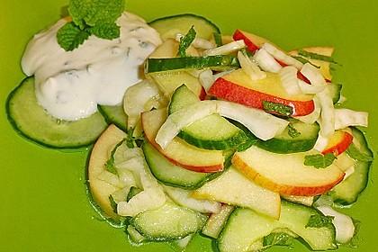 Fenchelsalat mit Apfel und Gurke 2
