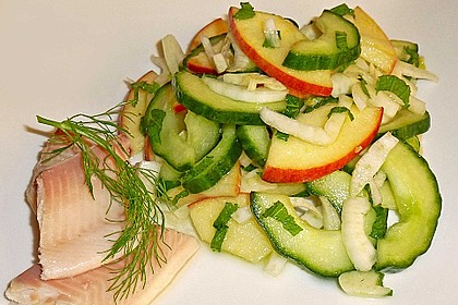 Fenchelsalat mit Apfel und Gurke 6
