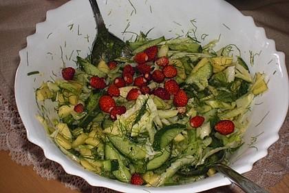 Fenchelsalat mit Apfel und Gurke 7
