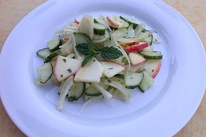 Fenchelsalat mit Apfel und Gurke 5