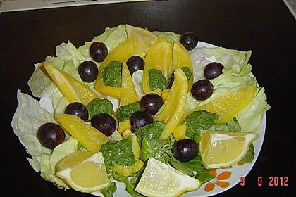 Spinat - Ricotta - Bällchen im Paprikaschiffchen