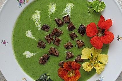 Cremesuppe mit Kapuzinerkresse