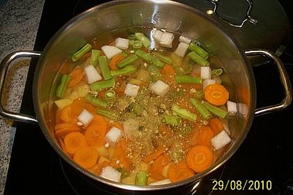 Gemüsesuppe mit Einbrenn nach Wunderoma 4