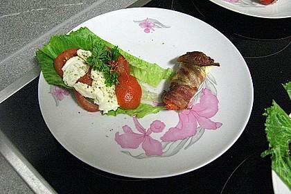 Frischkäse - Paprika - Schiffchen im Speckmantel 67