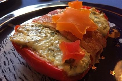 Frischkäse - Paprika - Schiffchen im Speckmantel 27