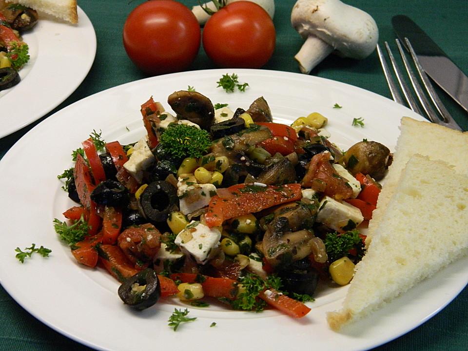 salat griechischer art mit schafsk se rezept mit bild. Black Bedroom Furniture Sets. Home Design Ideas