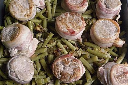 Schweinemedaillons mit Gorgonzola - Bohnen - Gratin 2