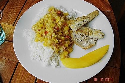 Fischfilet mit fruchtig - scharfer Mangosauce 8