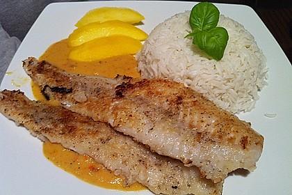 Fischfilet mit fruchtig - scharfer Mangosauce 6