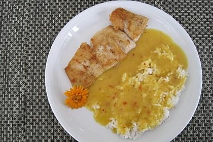 Fischfilet mit fruchtig - scharfer Mangosauce 12