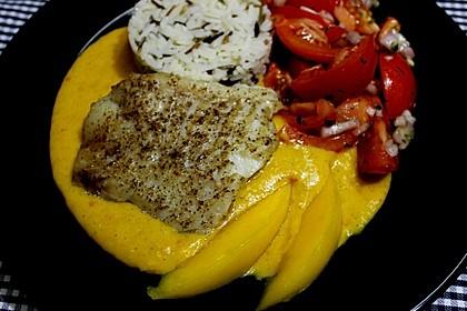 Fischfilet mit fruchtig - scharfer Mangosauce 1