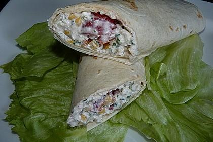 Gemüse - Hüttenkäse - Wraps 2