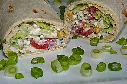 Gemüse - Hüttenkäse - Wraps 1