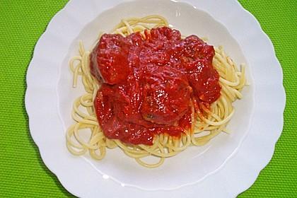 Mini - Frikadellen auf Tomatensauce 5