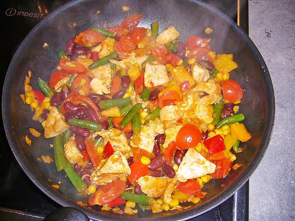H hnchen party pfanne rezepte for Einfache essen kochen