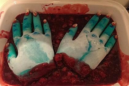 Abgerissene Hand für Halloween