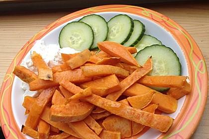 Süßkartoffel Pommes Frites 22