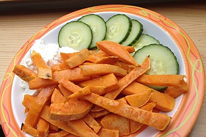 Süßkartoffel Pommes Frites 35