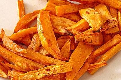 Süßkartoffel Pommes Frites 4