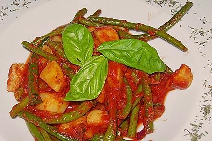 Grüne Bohnen - Tomaten - Kartoffeln
