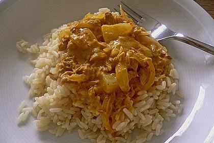 Exotische Thunfisch - Soße zu Reis