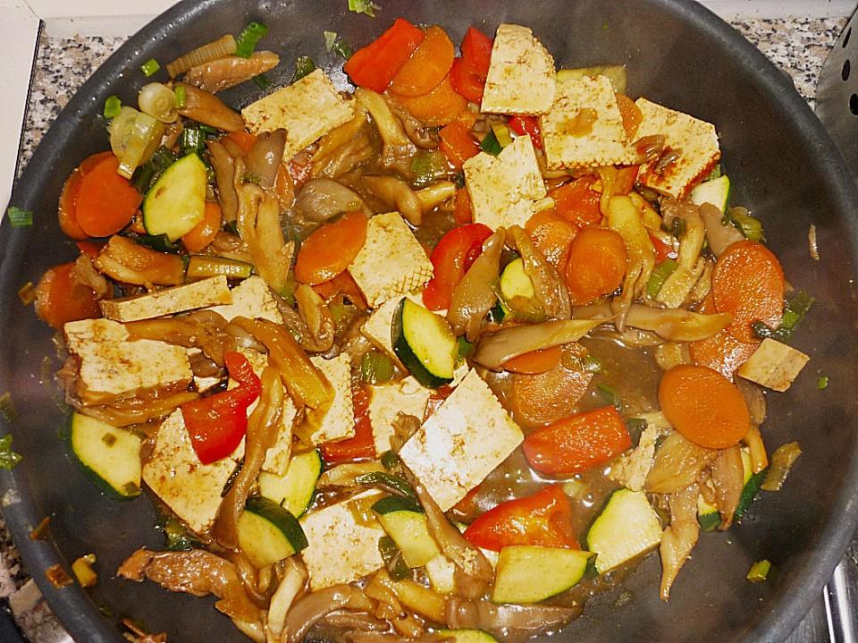 tofu gemüse pfanne