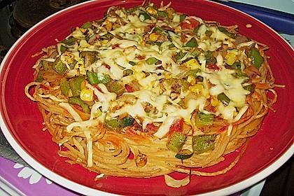 Spaghetti - Pizza 'Verdura'
